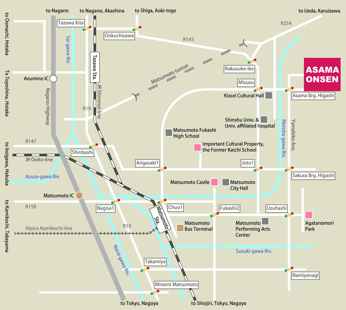 map matsumoto