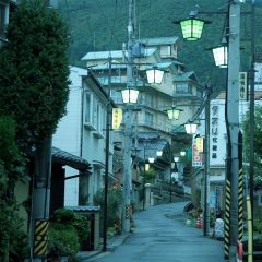 """Yuzaka"" ave. in the evening"