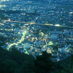 浅間温泉の夜景遠望